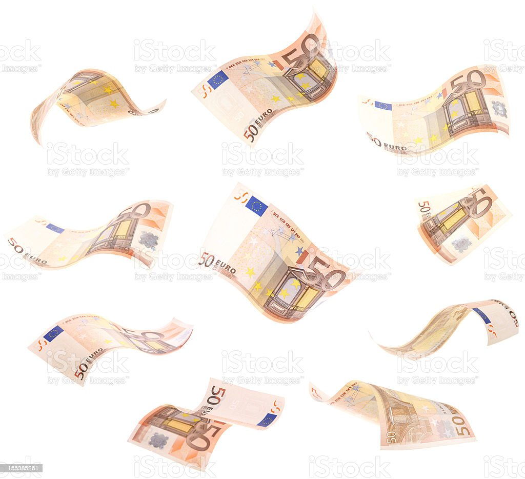 Falling Wavy Euros royalty-free stock photo