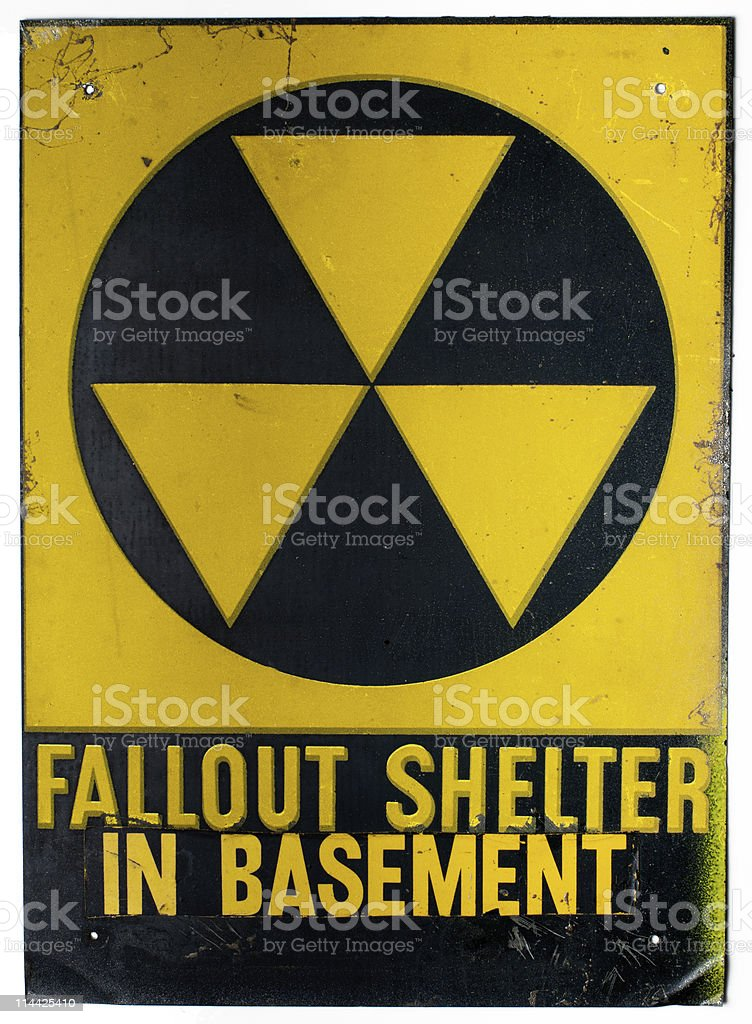 Fallout Shelter in Basement royalty-free stock photo