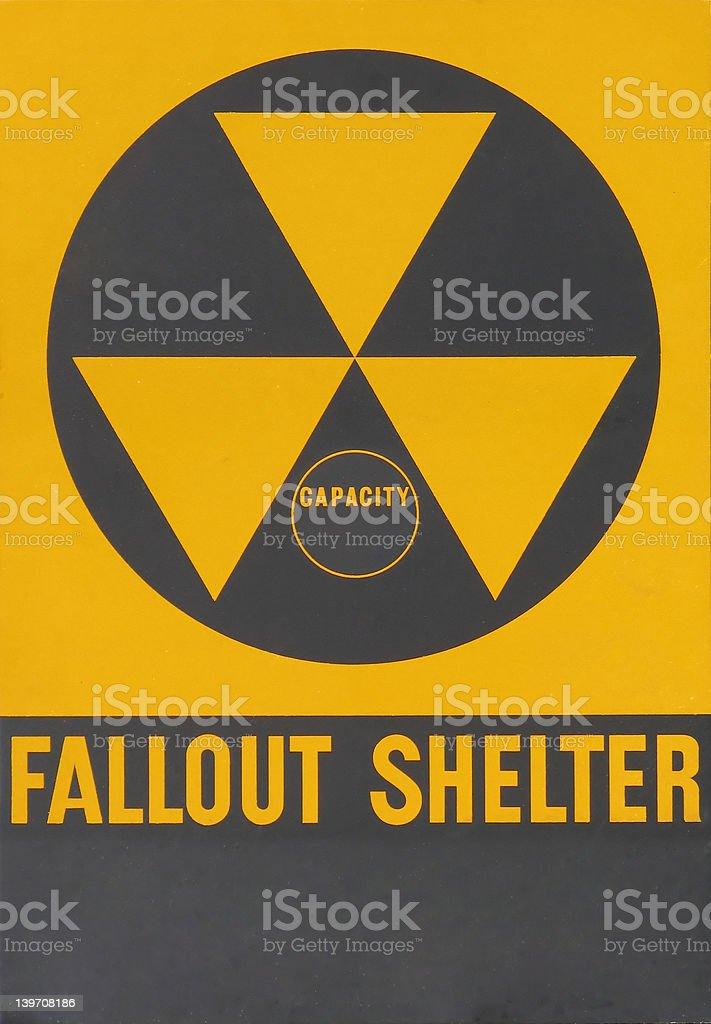 Fallout Shelter Warning Sign stock photo