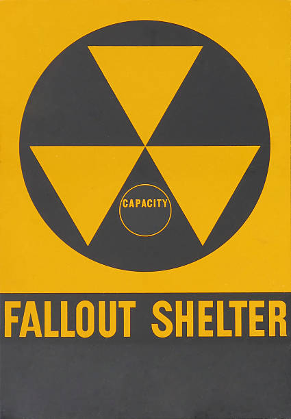 Fallout Shelter Warning Sign Vintage