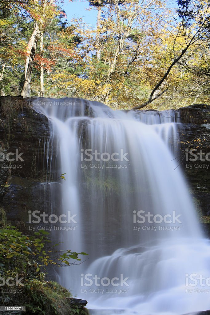 Falls and Autumn royalty-free stock photo
