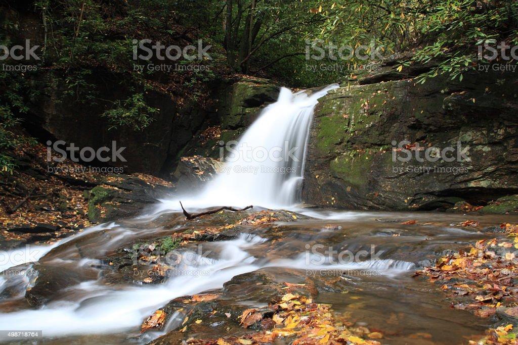 Falls Dodd Creek along Raven Cliff Falls Trail in Georgia stock photo
