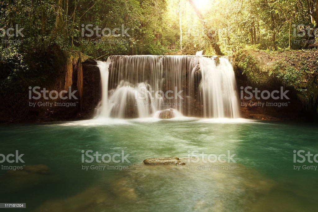 YS Falls in Jamaica stock photo