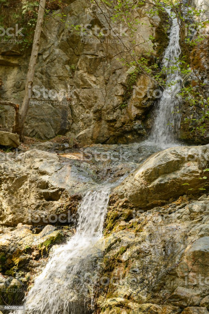 Falls in mountains of Cyprus in the summer royalty-free stock photo