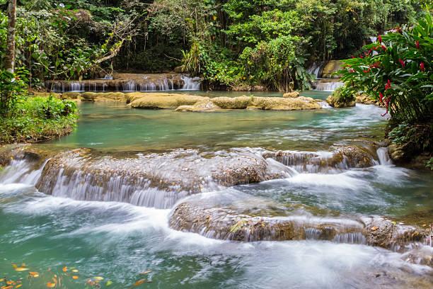 YS Falls lower pool stock photo