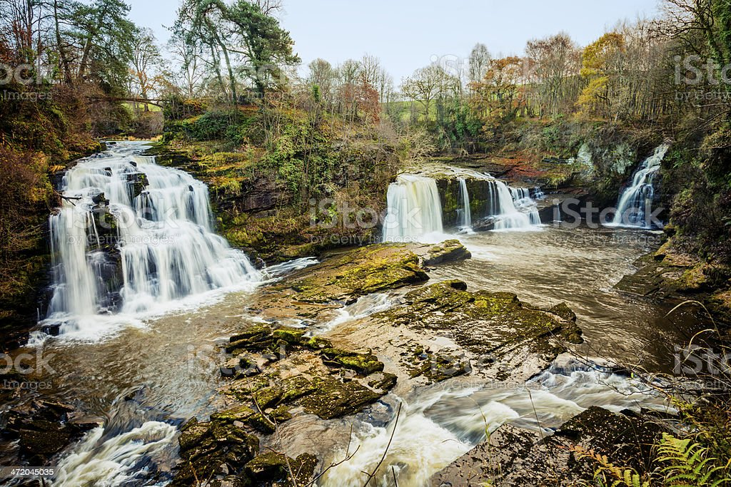 Falls of Clyde stock photo