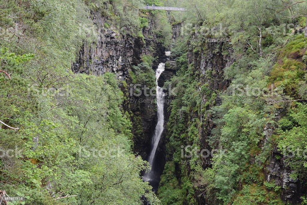 Falls of Measach, Corrieshalloch Gorge stock photo