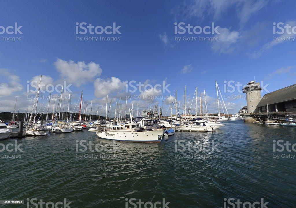 Falmouth Boats stock photo