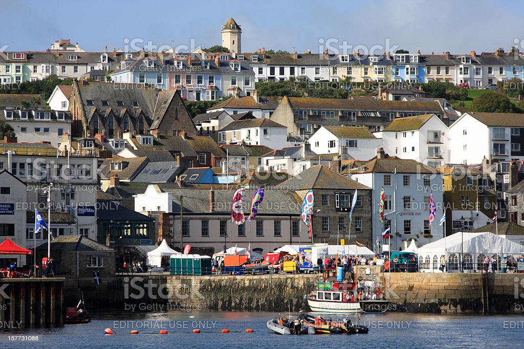 Falmouth in Cornwall, England royalty-free stock photo
