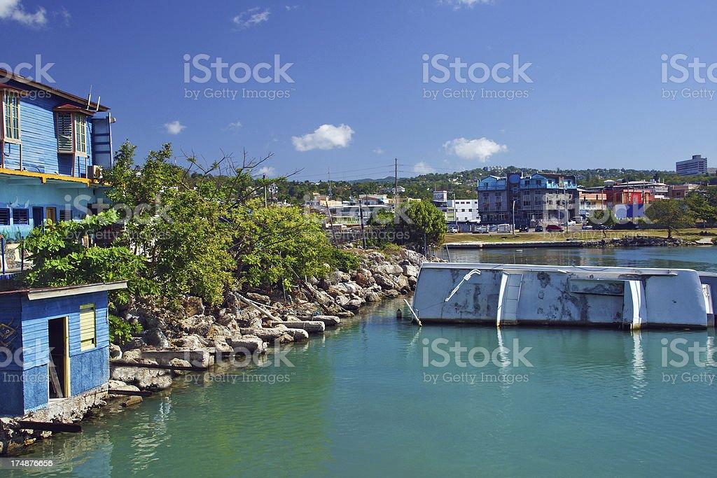 Falmouth, Jamaica Near Montego Bay stock photo