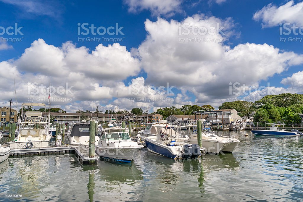 Falmouth marina stock photo