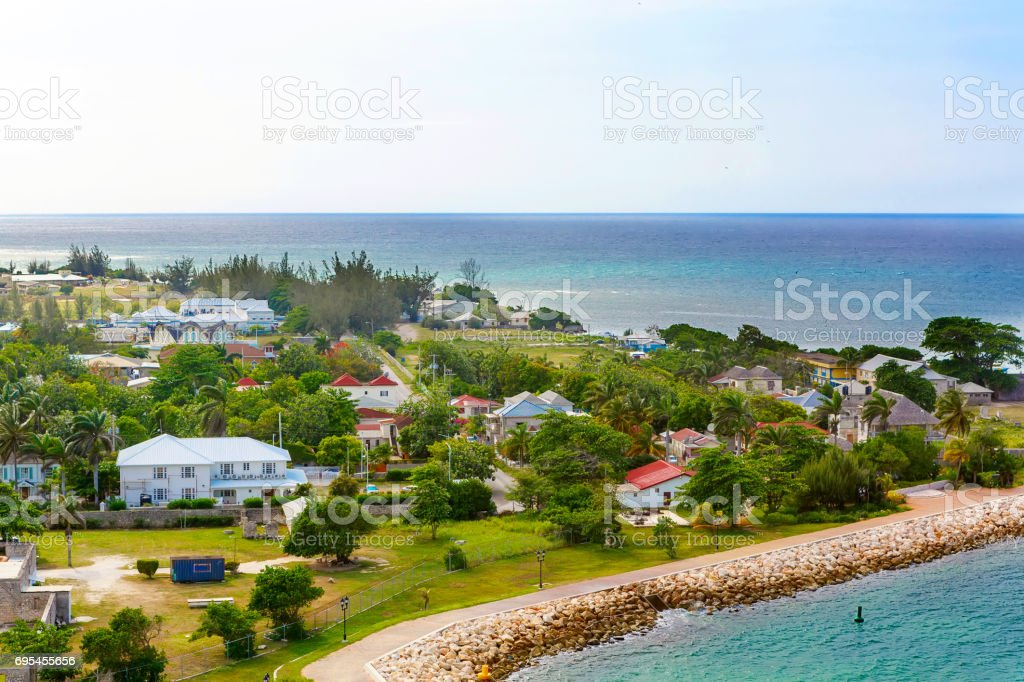 Falmouth port in Jamaica island, the Caribbeans stock photo