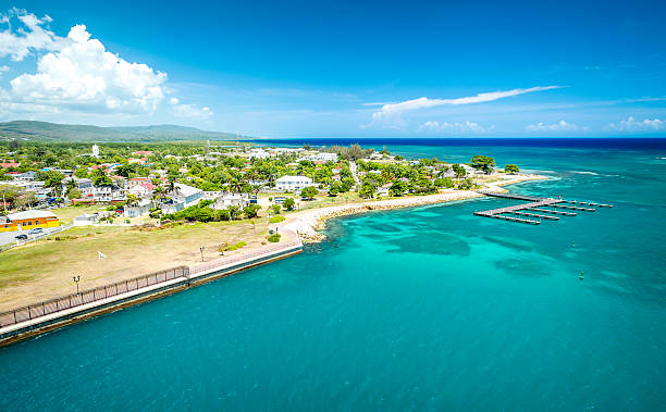falmouth port in jamaica - jamaica stock photos and pictures