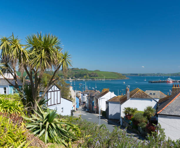 Falmouth Town in Cornwall, England stock photo