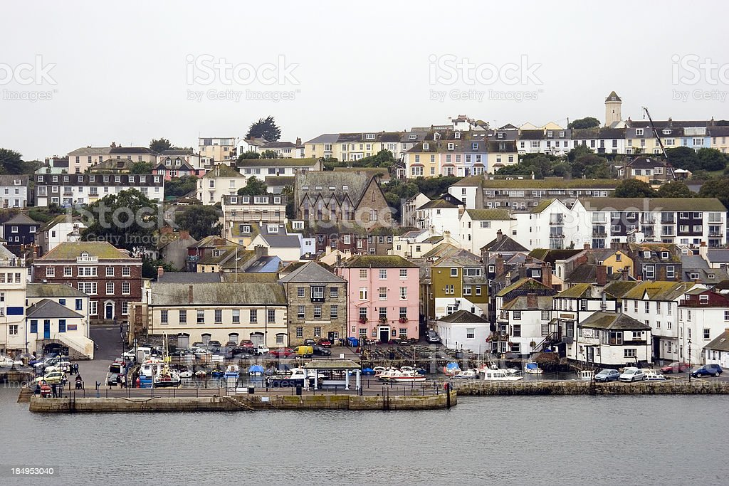 Falmouth waterfront and docks stock photo
