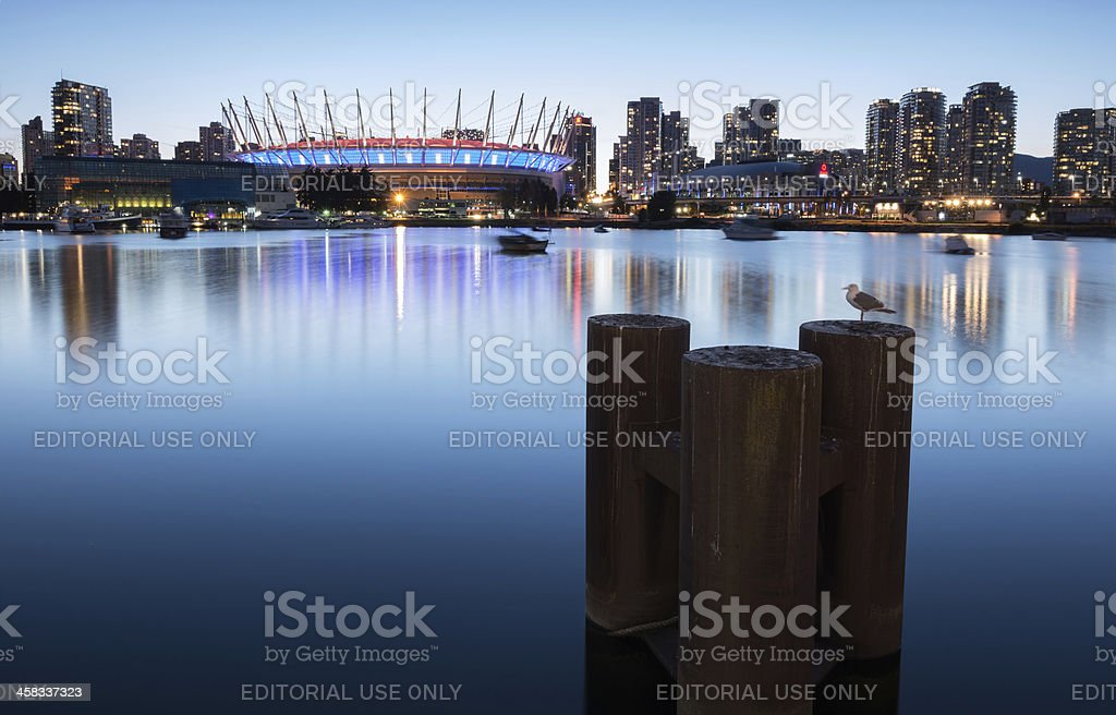 False Creek and BC Place in Vancouver, British Columbia stock photo