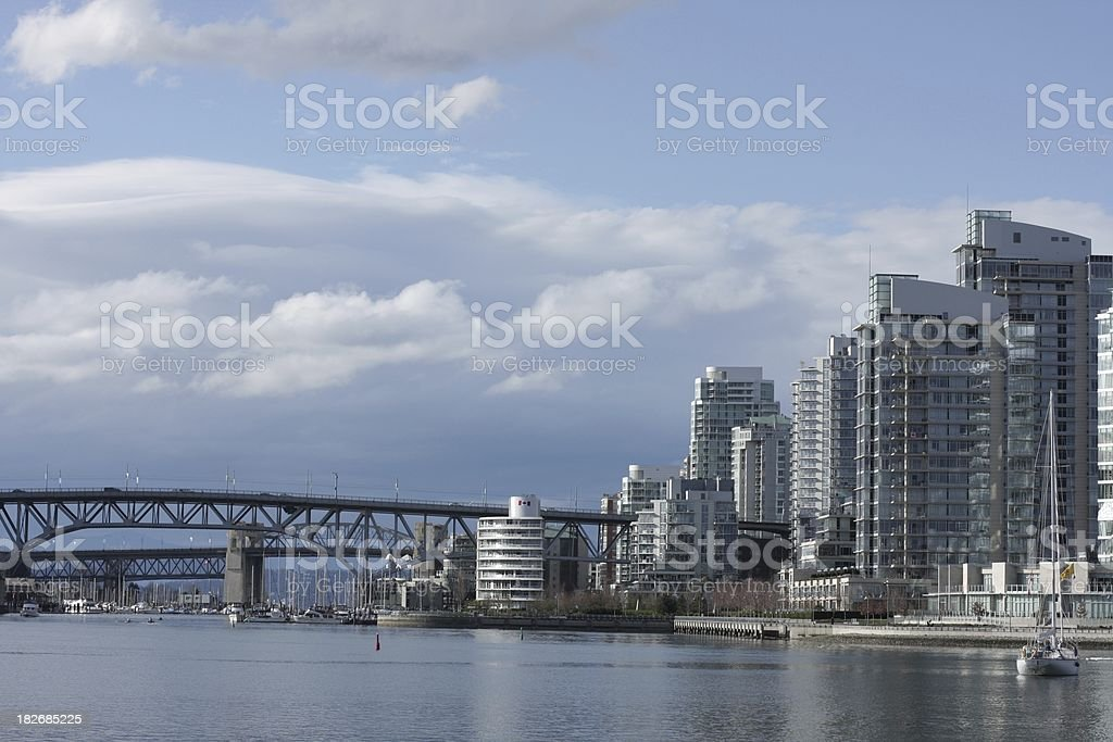 False Creek, Granville Street Bridge and Yaletown, Vancouver, Canada royalty-free stock photo