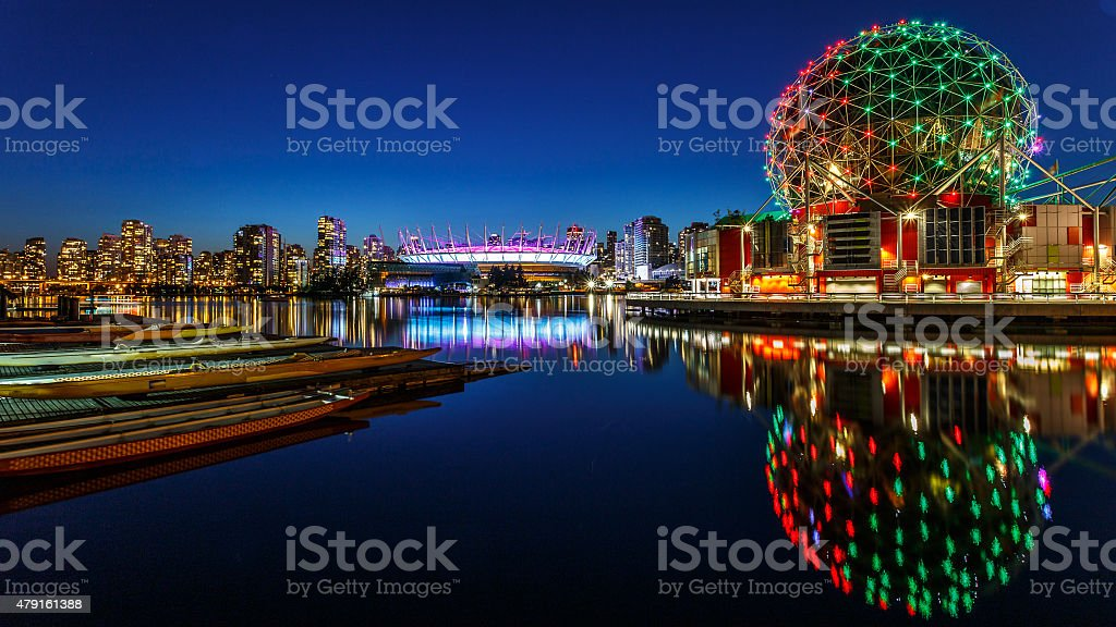 False Creek in Vancouver, Canada stock photo