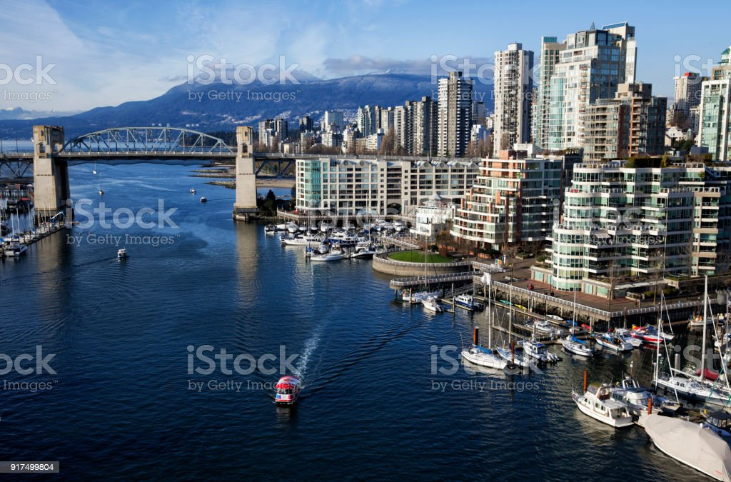 False Creek in winter, Vancouver, Canada stock photo