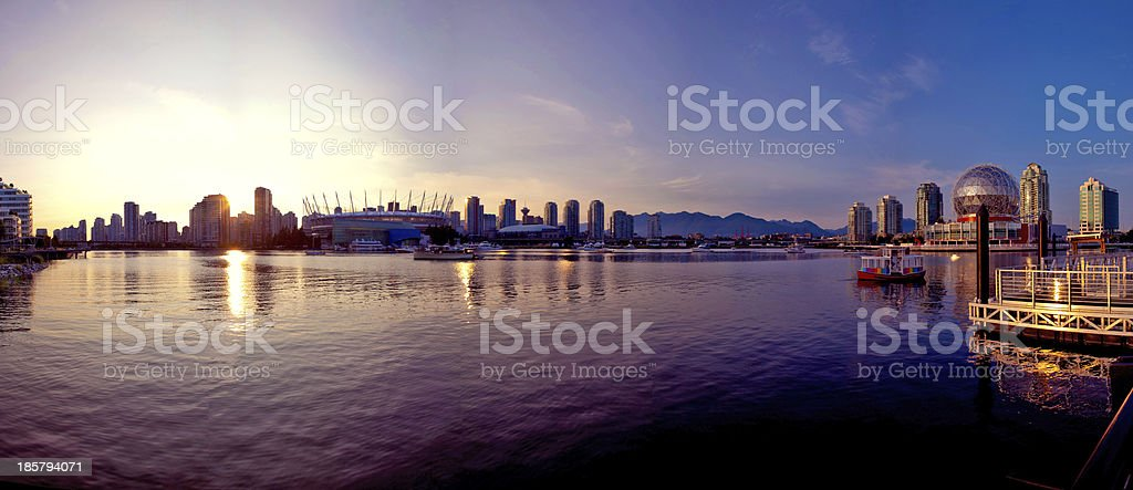 False Creek Pano stock photo