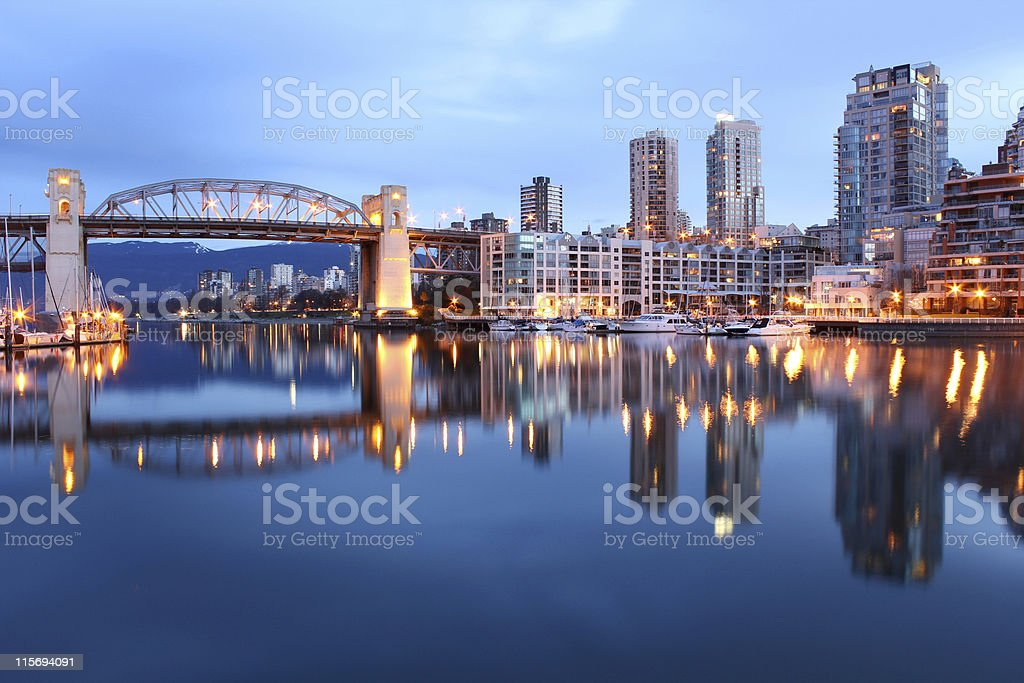 False Creek Vancouver Morning stock photo