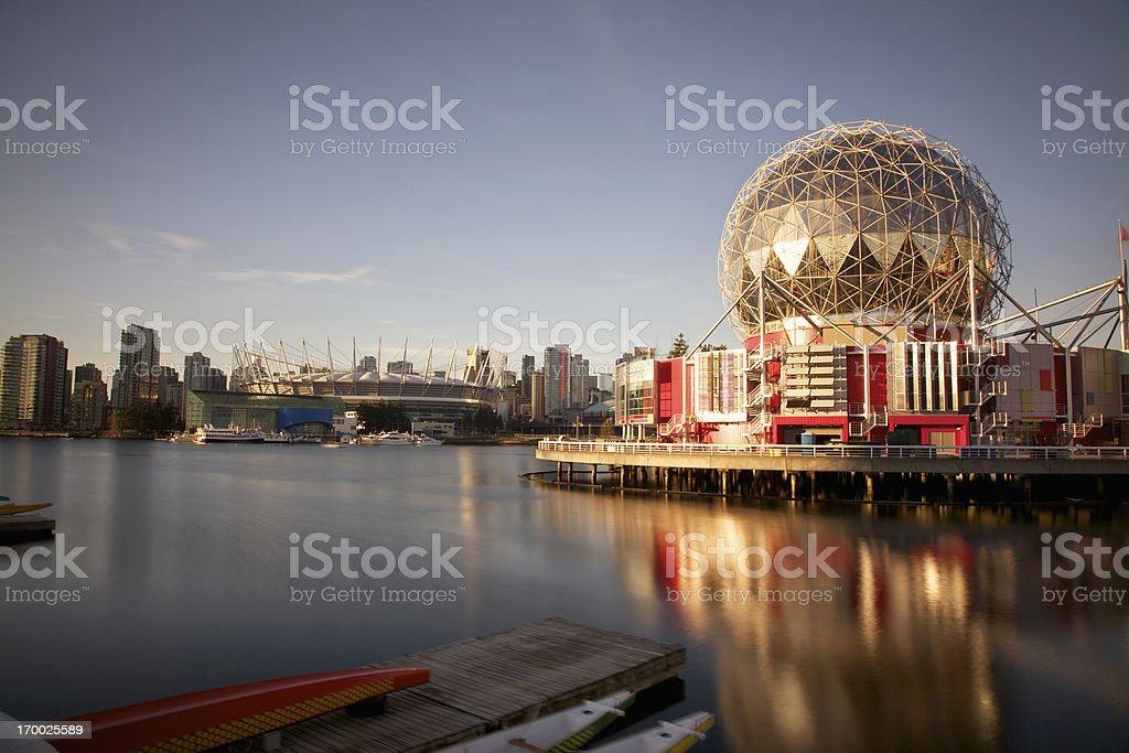 False Creek View of Science World Vancouver Canada stock photo