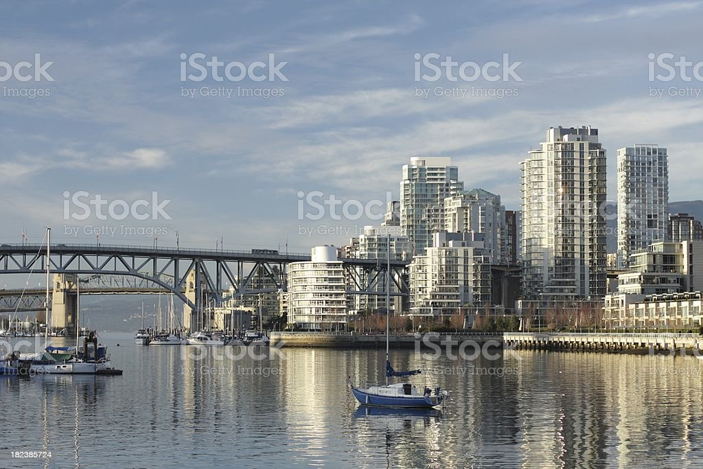 False Creek Waterfront, Vancouver royalty-free stock photo