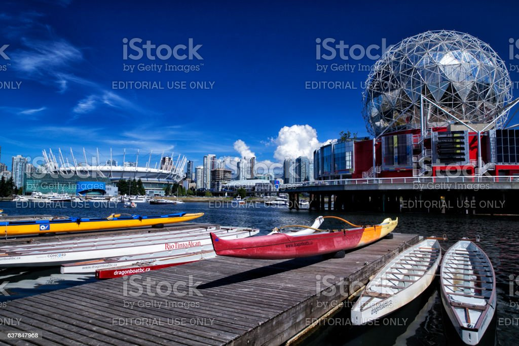 False creek,Vancouver in summer stock photo