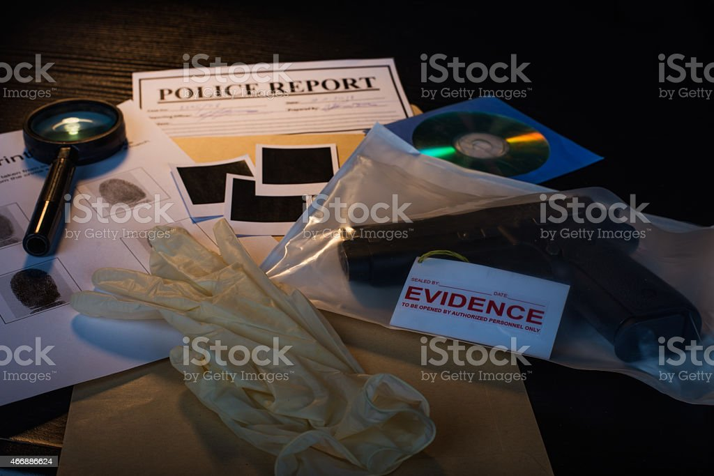 False evidence stock photo