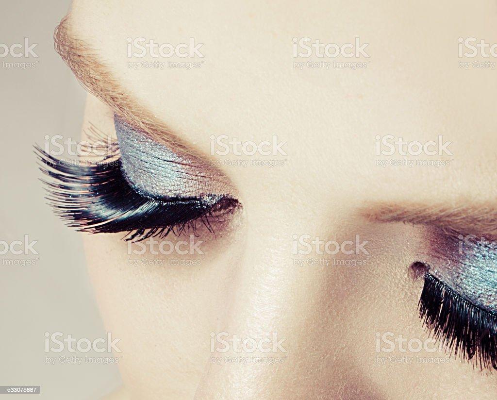 False eyelash stock photo