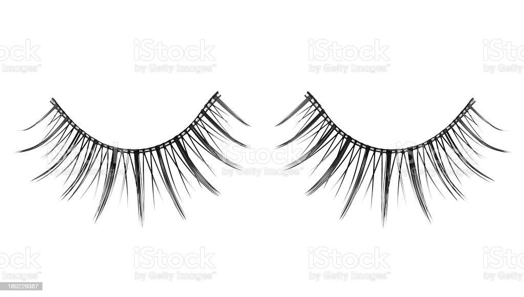 False Eyelashes A pair of False Eyelashes on white Eyelash Stock Photo