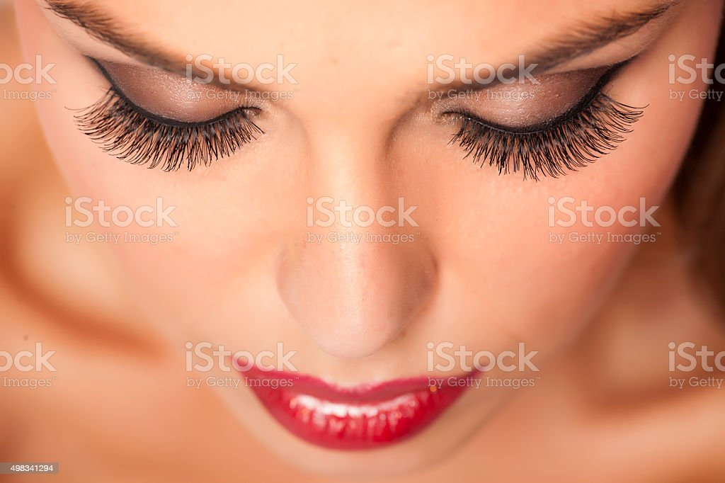 False eyelashes stock photo