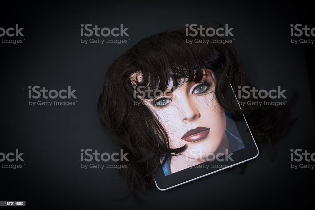 False identities on internet and social media stock photo
