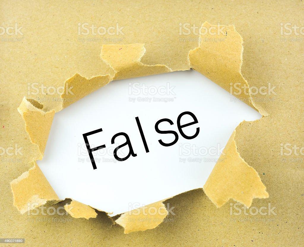 False stock photo