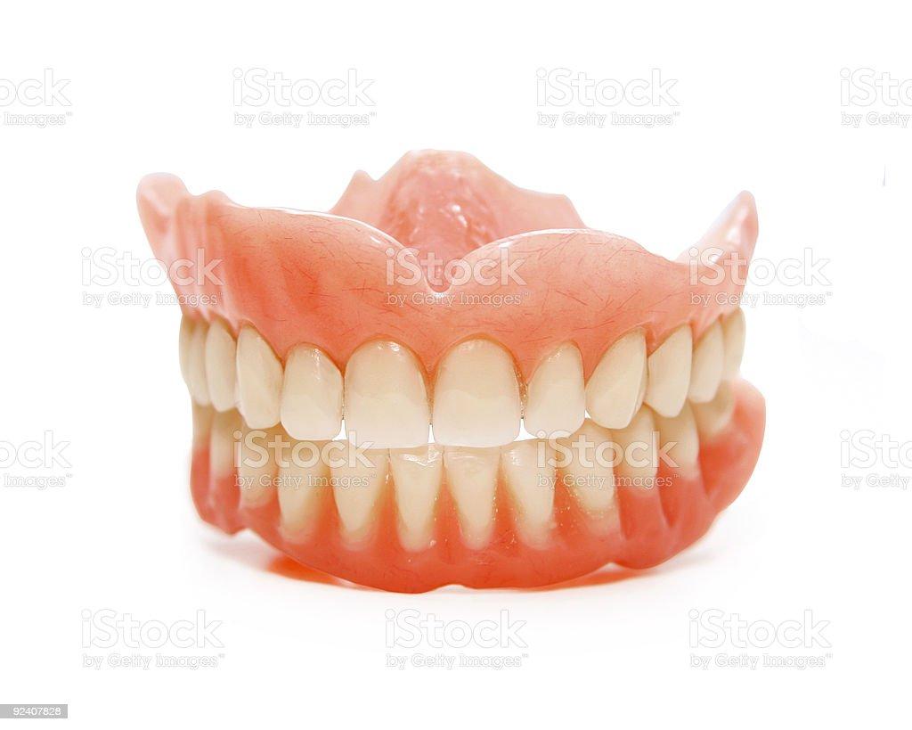 false teeth stock photo