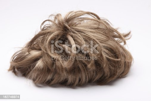 false wig on the white background Size XXXL
