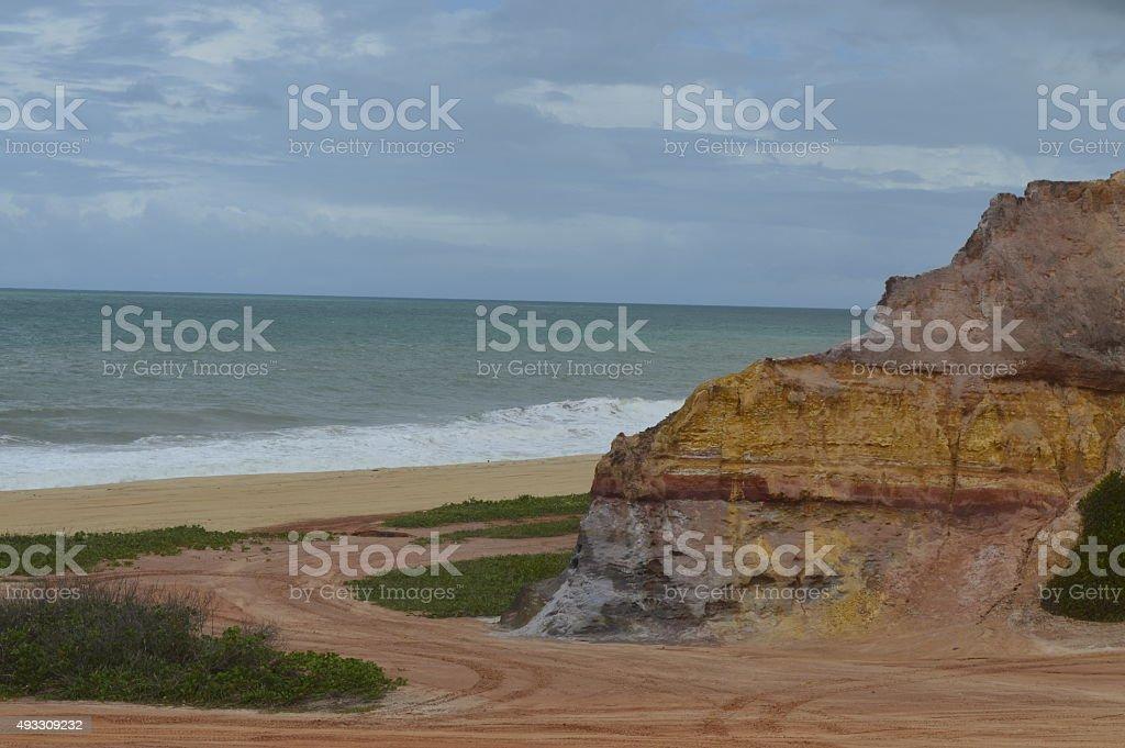 Falésias com praia do guandu ao fundo - foto de acervo