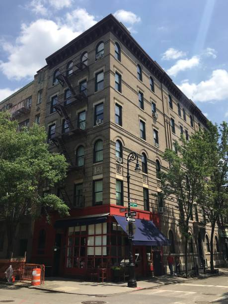 A familiar apartment block in New York. stock photo