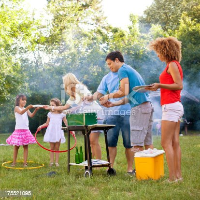 istock Families enjoying a barbecue. 175521095