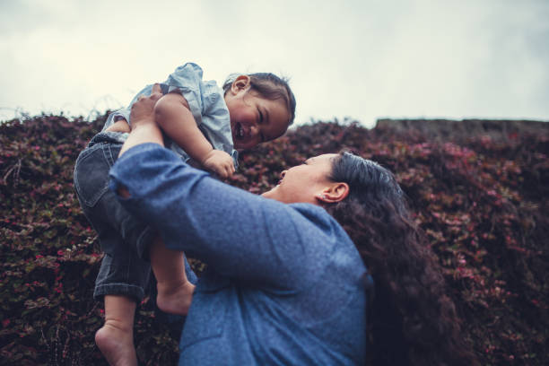 families from new zealand. - pacific islander ethnicity stock photos and pictures