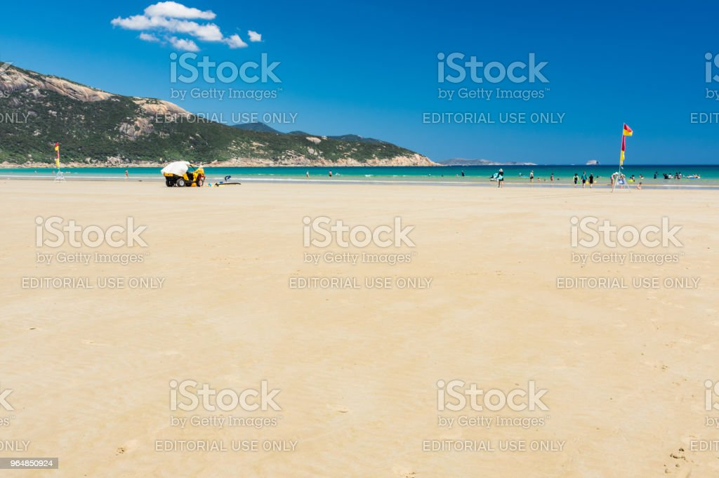 Families on Norman Bay beach on Wilsons Promontory National Park in Gippsland, Australia. royalty-free stock photo