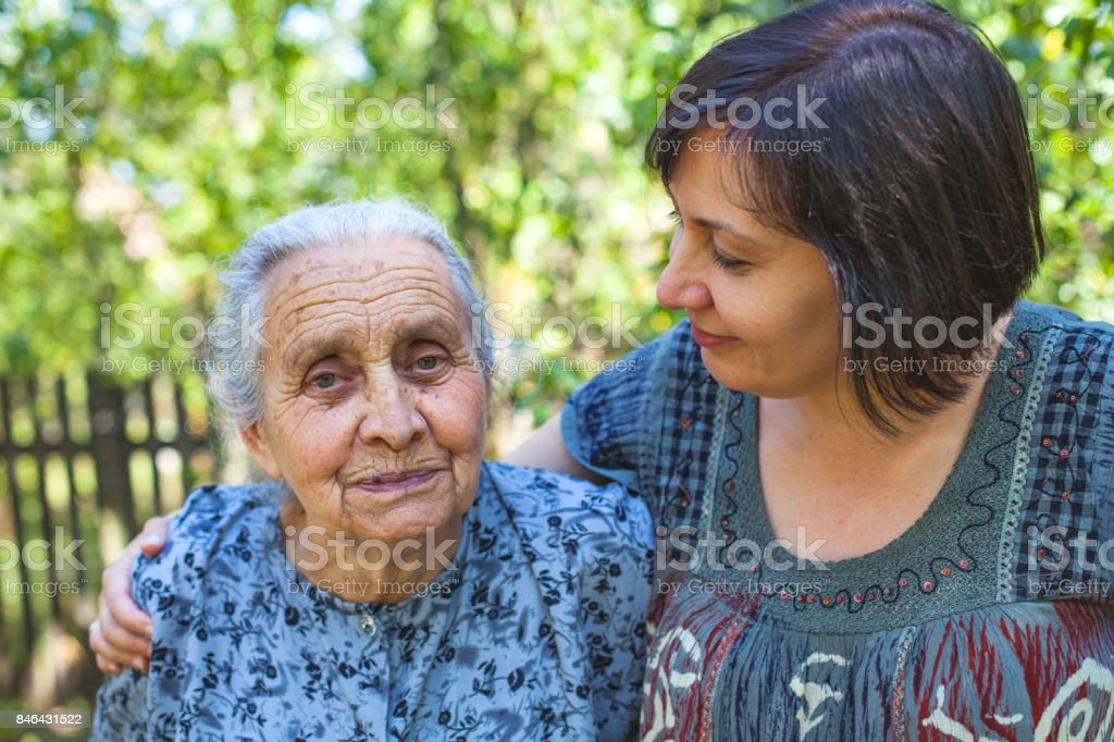 Familiy time - aging stock photo