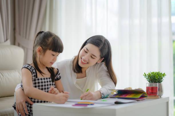 familie 51 - homeschooling stock-fotos und bilder