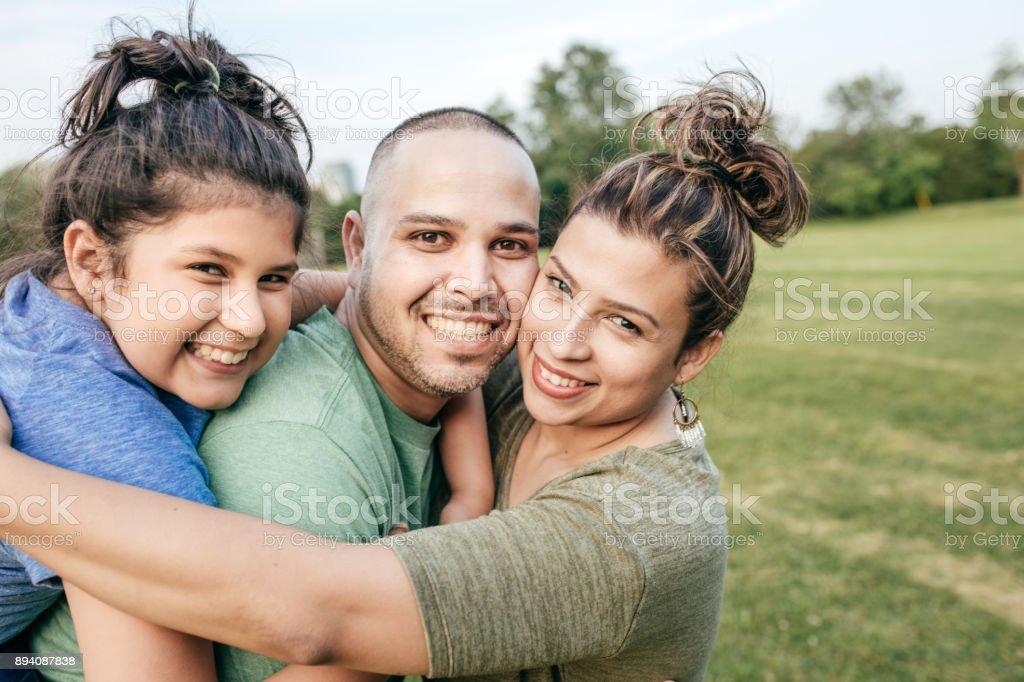 Family adventures stock photo