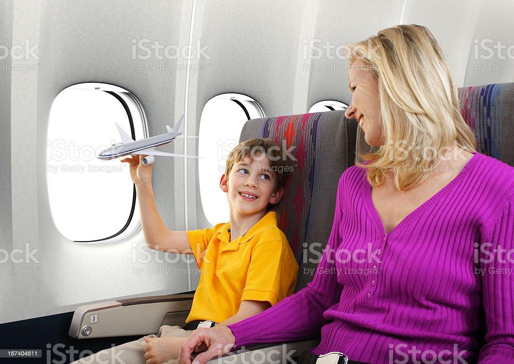 Family Air Travel royalty-free stock photo