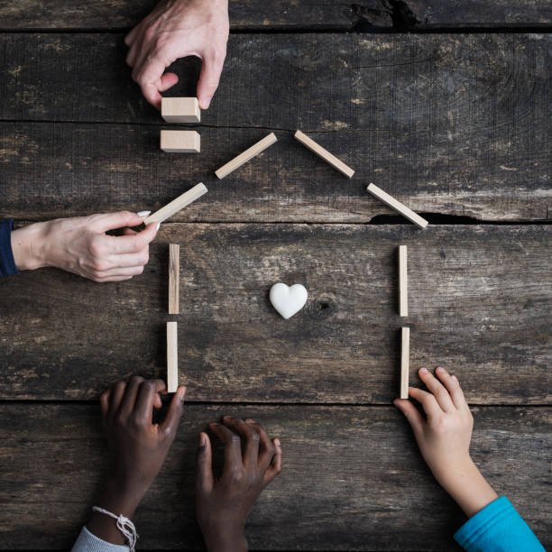 Family and adoption conceptual image stock photo