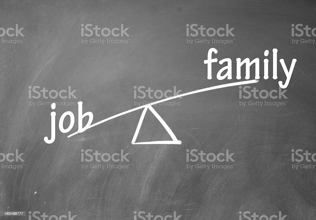 family and career choice stock photo