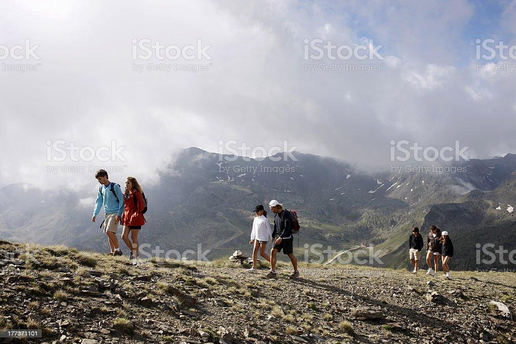 Familie und Freunde Wandern in den Pyrenäen – Foto