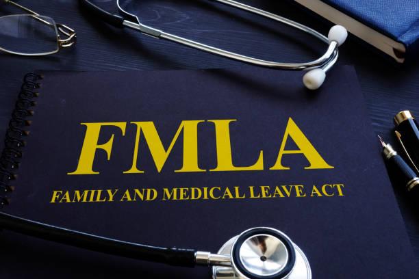 fmla family and medical leave act and stethoscope. - до свидания стоковые фото и изображения