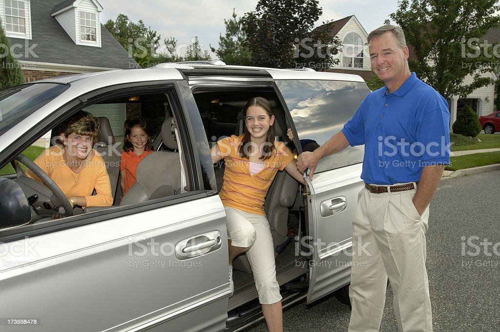 family- arriving stock photo